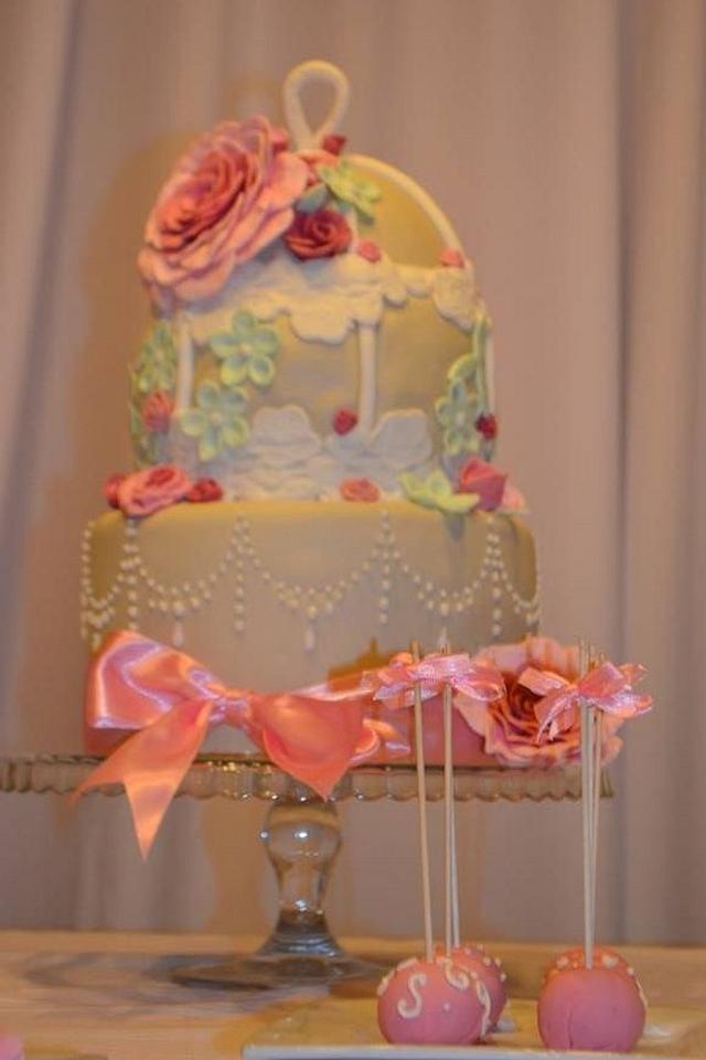 Fabulous Shabby Chic 15 Birthday Cake Cake By Adriana Dalbora Cakesdecor Personalised Birthday Cards Cominlily Jamesorg