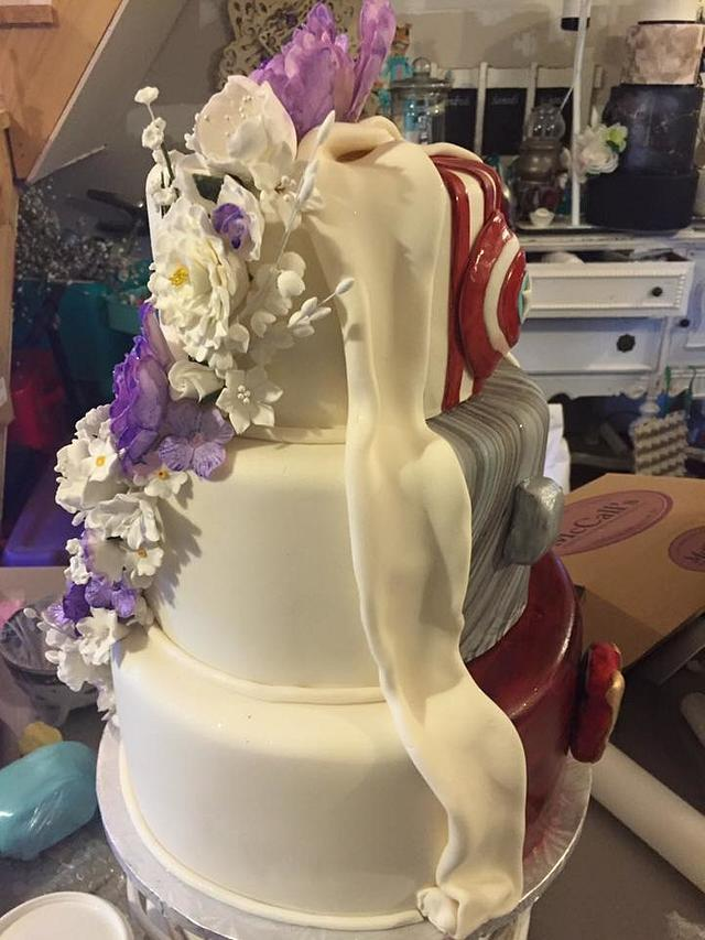 two-faced cake