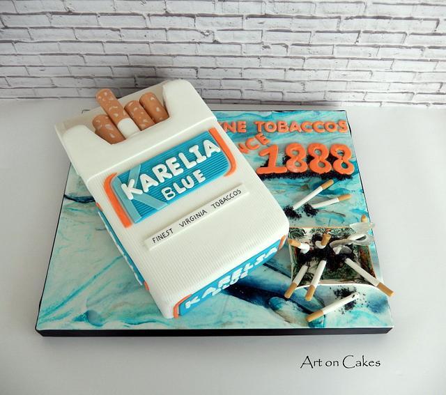 Cigarettes cake...
