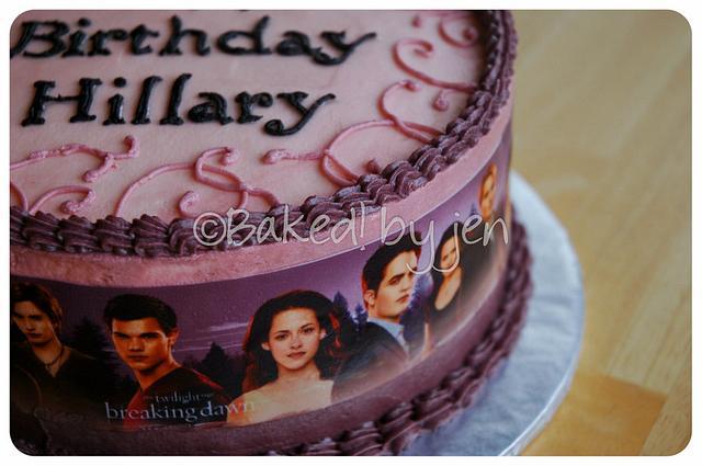 Astonishing Twilight Breaking Dawn Birthday Cake Cake By Jen Cakesdecor Funny Birthday Cards Online Overcheapnameinfo