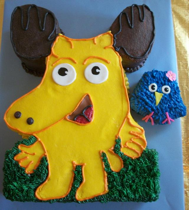 Swell Moose A Moose Cake By Tracys Custom Cakery Llc Cakesdecor Funny Birthday Cards Online Overcheapnameinfo