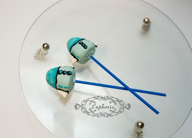 Rocket ship cake pops