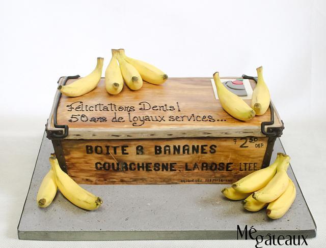 antique banana wood box