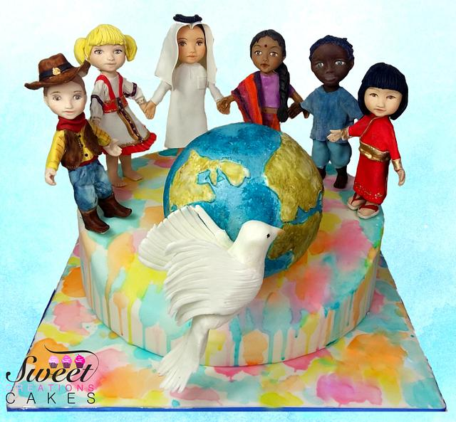 Cakes against Violence collaboration : kids of the world