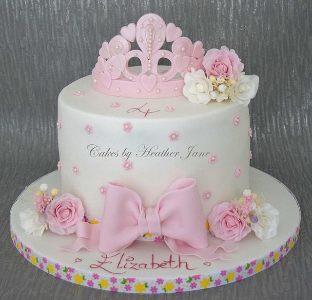 Flowery princess cake