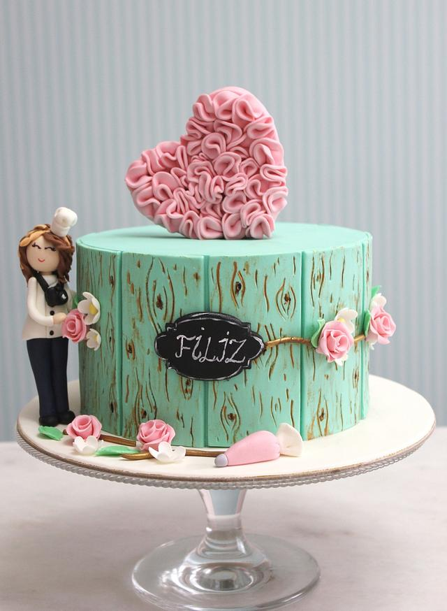 pastry chef birthday cake