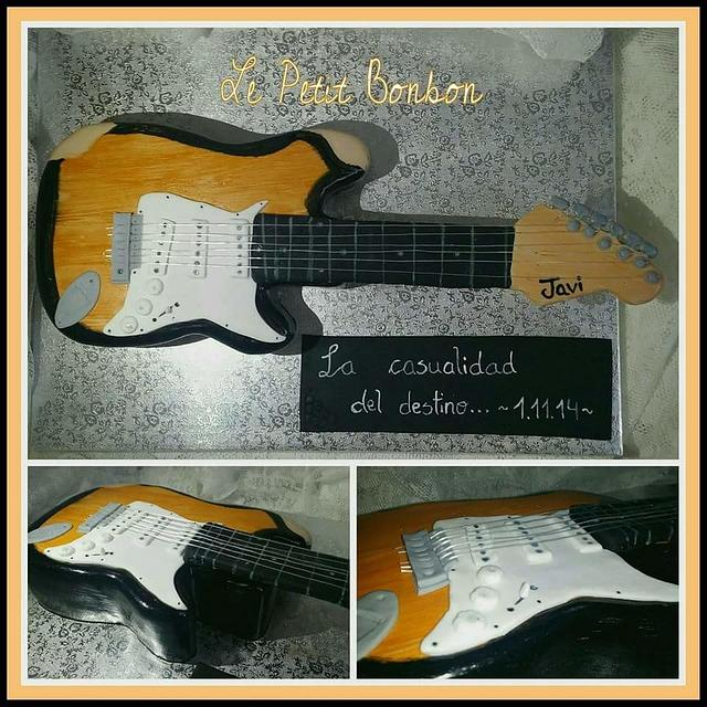 Playing the guitar with fondant
