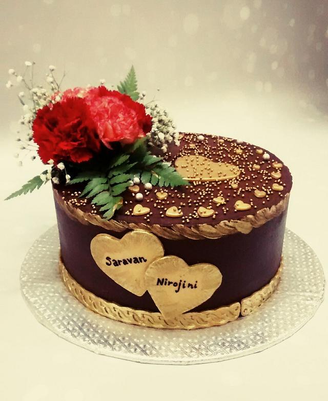 Belgium dark chocolate cake