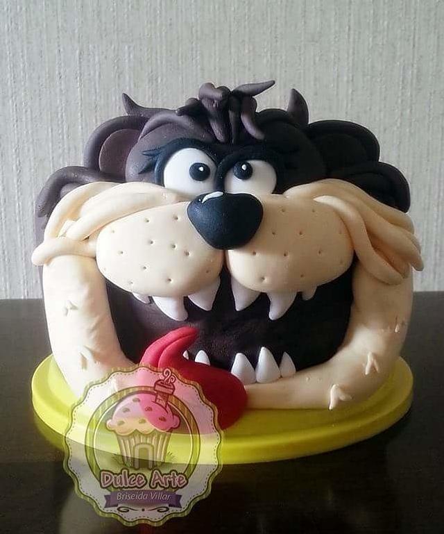 Tasmanian devil cartoon cake