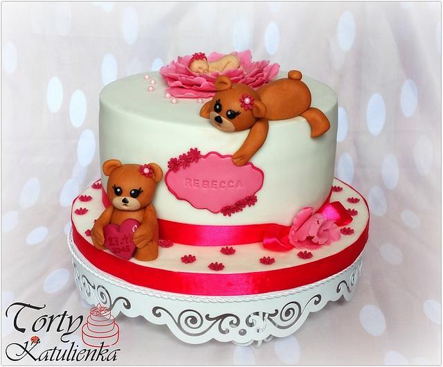 Baby shower cake for Rebecca