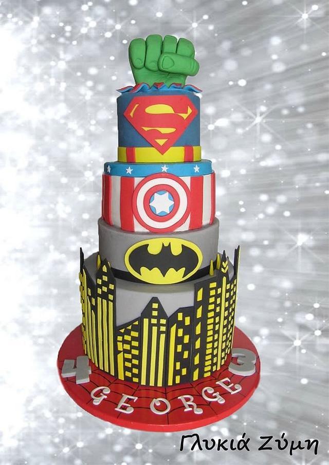 My Superheroe-Husband's Cake!
