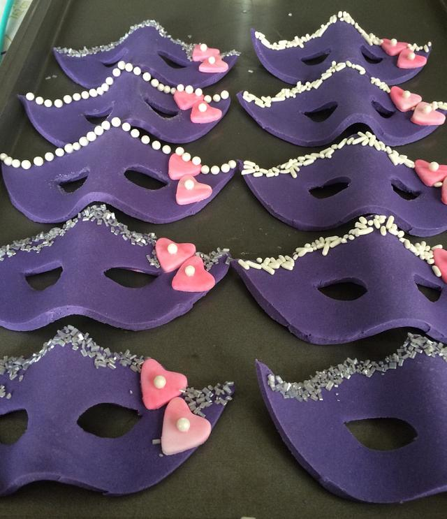 Mask cupcake toppers
