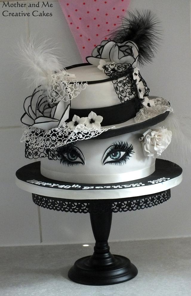 Hats and Lashes Cake