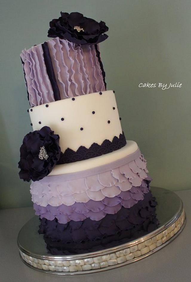 """1st place Wedding cake in the """"Advanced"""" division at the Kentucky Cake Show."""