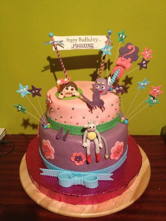 Surprising Dora Cake Cake By Margot Cakesdecor Birthday Cards Printable Benkemecafe Filternl