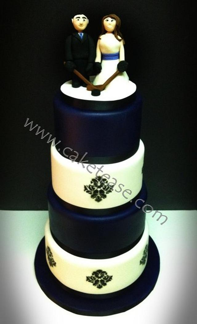 Damask Hockey Wedding