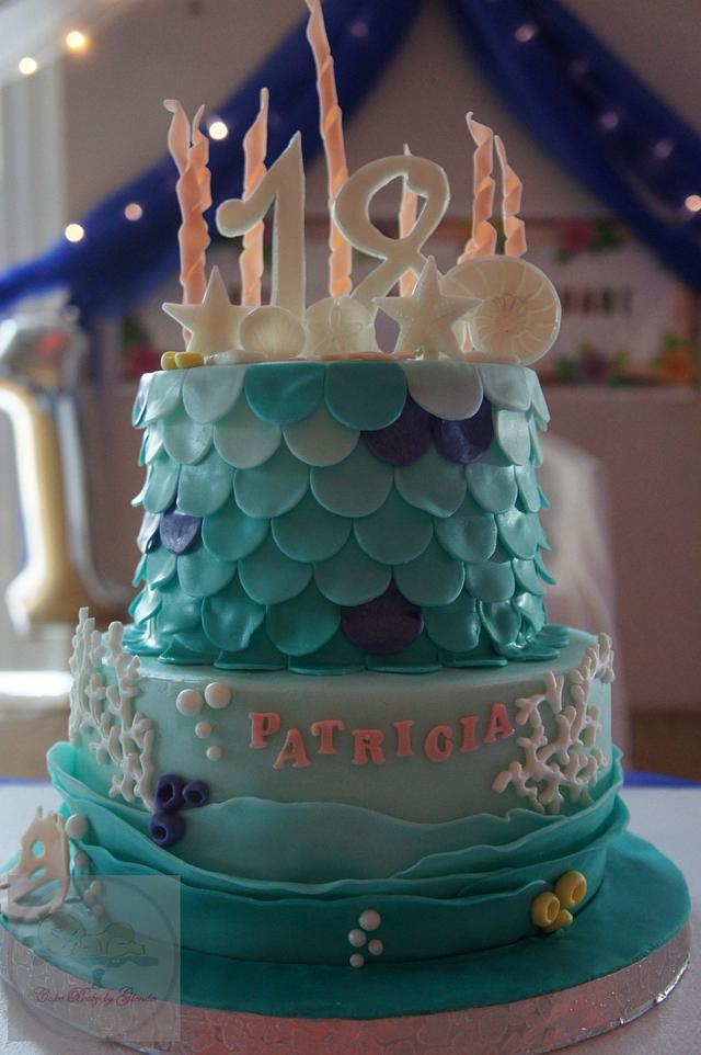 Prime Under The Sea Mermaid Cake For An 18Th Birthday Cake Cakesdecor Funny Birthday Cards Online Overcheapnameinfo