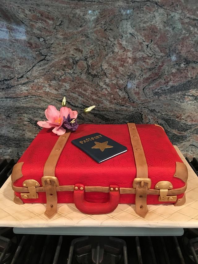 Passport Suitcase Cake