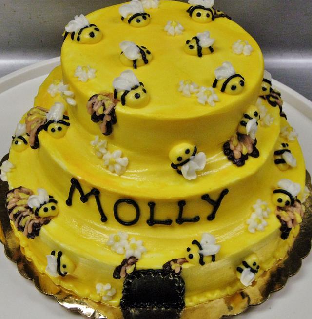 Honey Beehive cake Buttercream