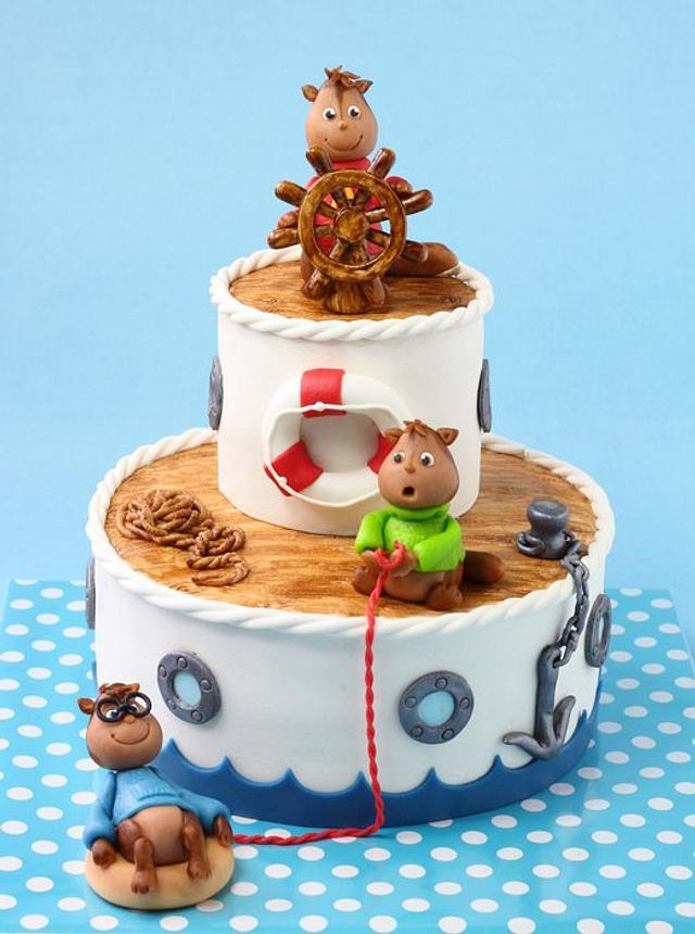 Pleasing Alvin And The Chipmunks Shipwrecked Cake By Leonietje Cakesdecor Funny Birthday Cards Online Alyptdamsfinfo