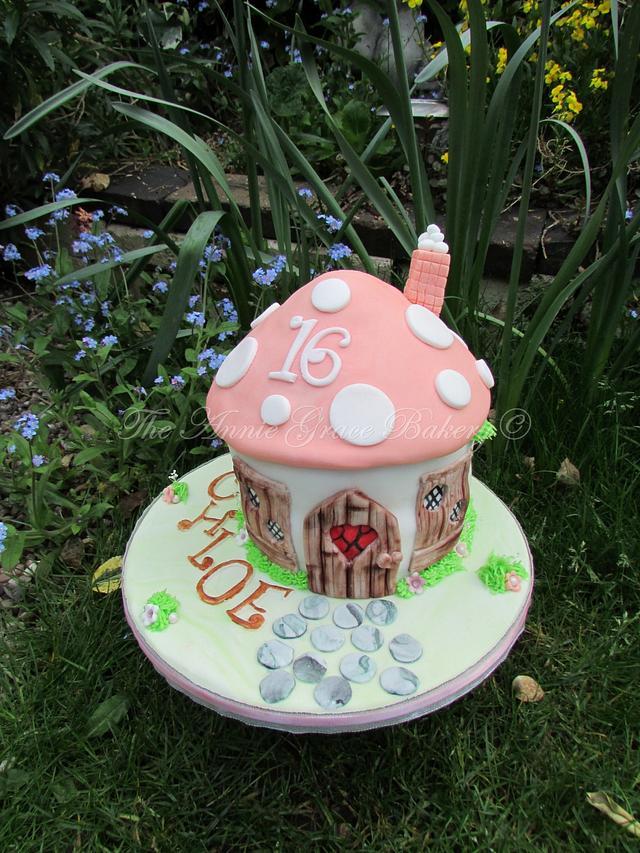 Fairy Toadstool Sweet 16th Cake
