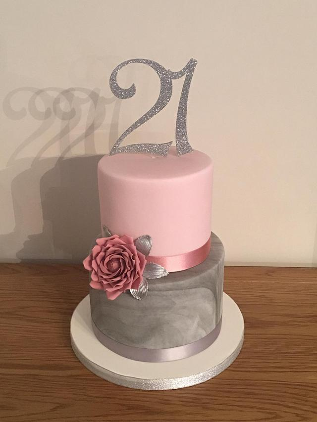 Enjoyable 21St Birthday Cake Cake By Mulberry Cake Design Cakesdecor Funny Birthday Cards Online Alyptdamsfinfo