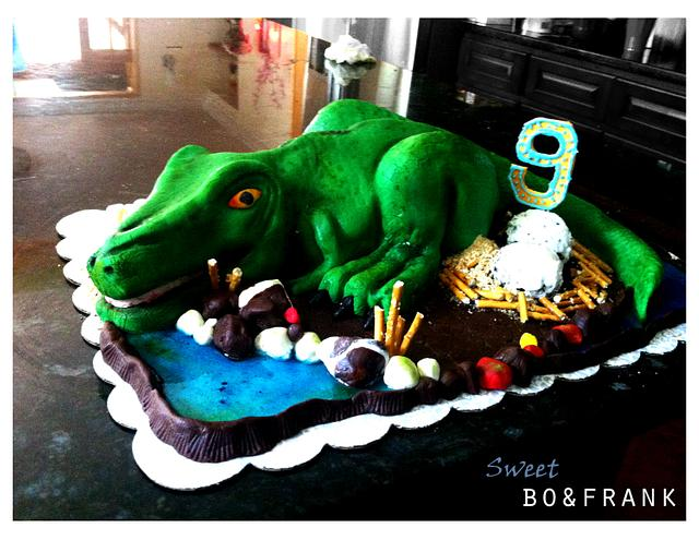 Fine T Rex Birthday Cake Cake By Sweetbofrank Cakesdecor Personalised Birthday Cards Paralily Jamesorg