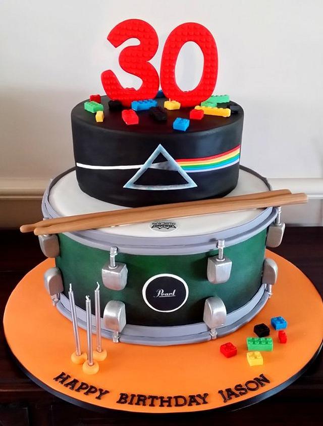 Pleasant Lego Pink Floyd And Drum 30Th Birthday Cake Cake By Cakesdecor Funny Birthday Cards Online Aboleapandamsfinfo
