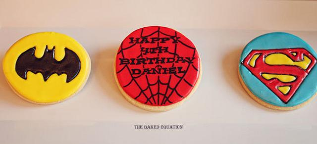 Super Hero Decorated Sugar Cookies