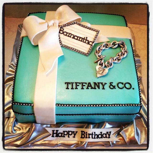 Pleasing Tiffany Co Cake By Heidi Cakesdecor Funny Birthday Cards Online Benoljebrpdamsfinfo