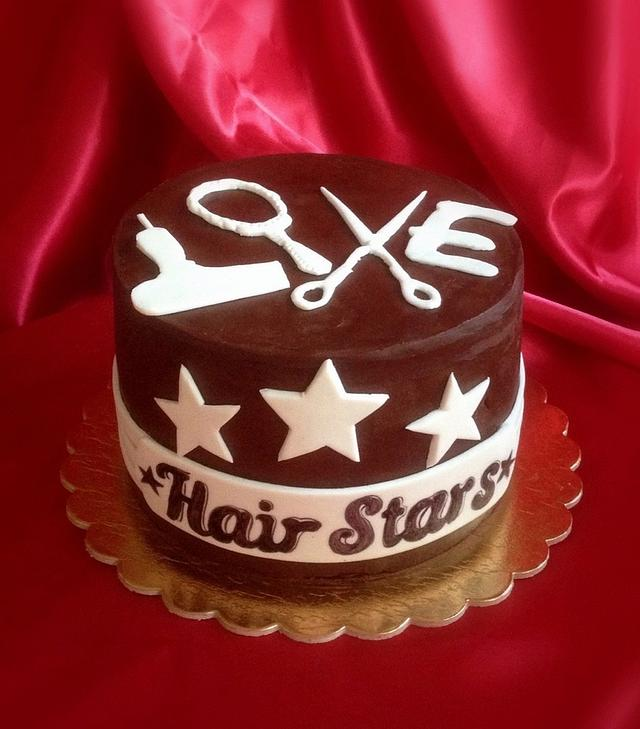 "Cake for the hairdresser. ""Declaration of love"""