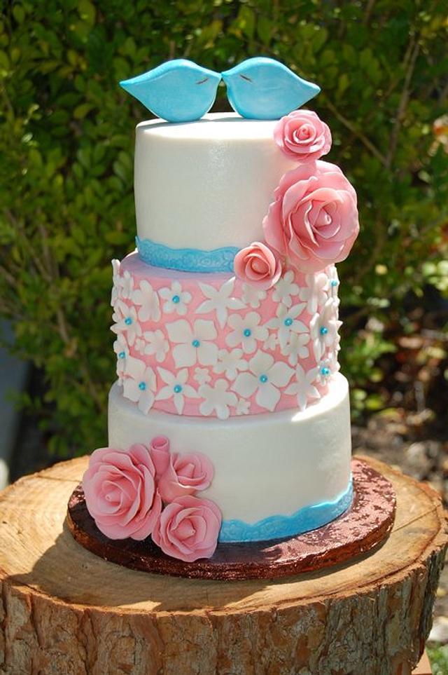 Rustic Pink & Teal Wedding