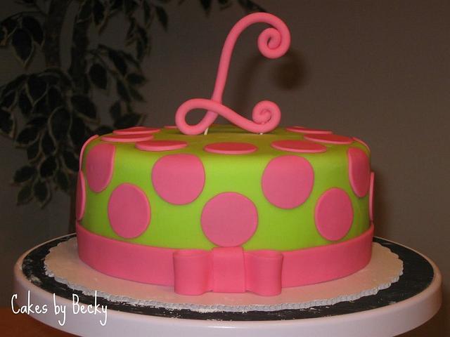 Pink and Green Polka Dot Birthday