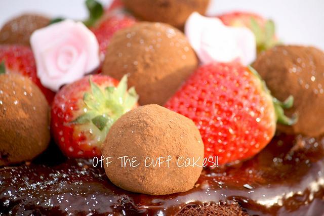 6 layer chocolate truffle cake