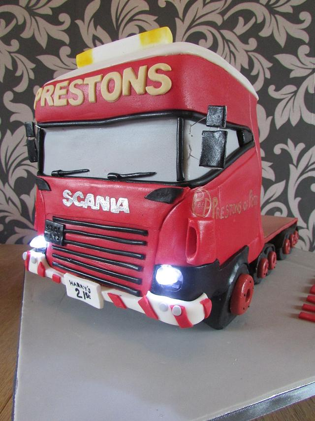 hgv with working head lights