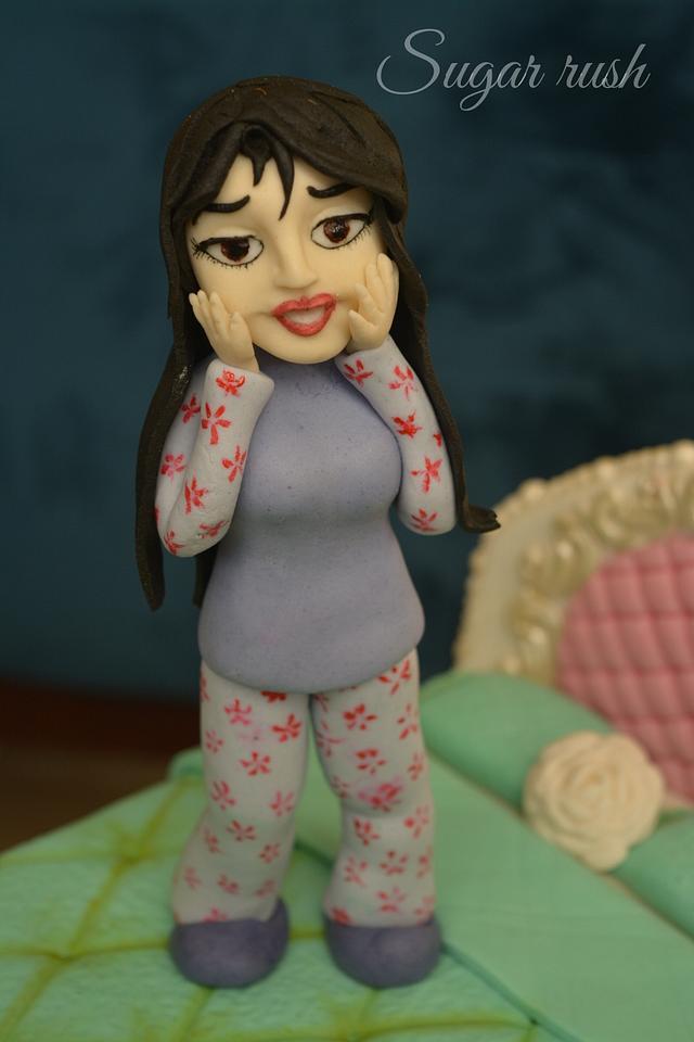 Scary girl figure