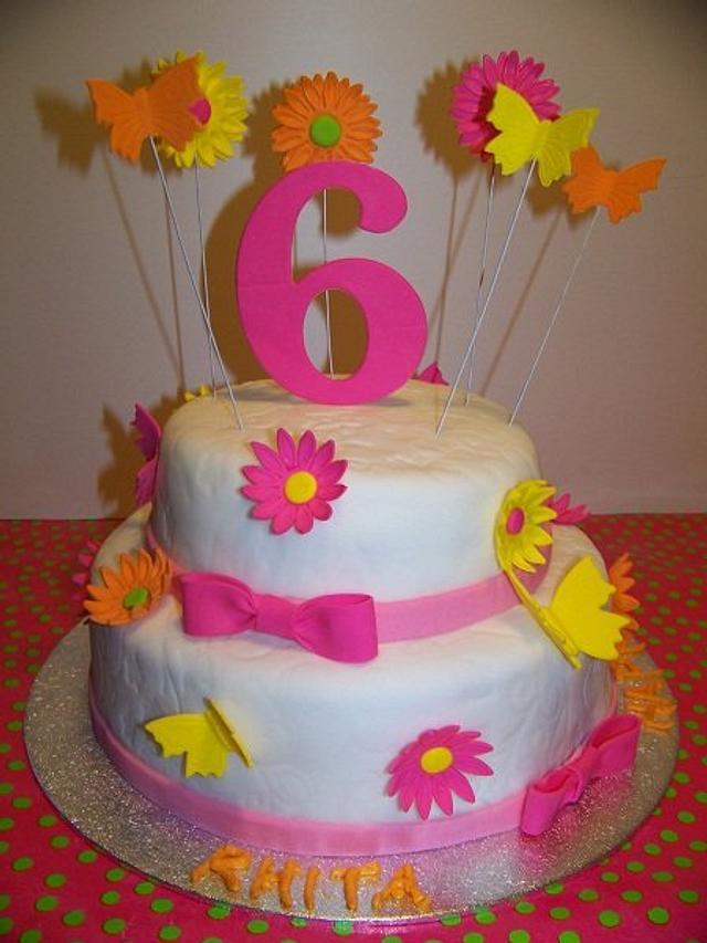 Sensational Funky Birthday Cake Cake By Laura Jabri Cakesdecor Personalised Birthday Cards Arneslily Jamesorg