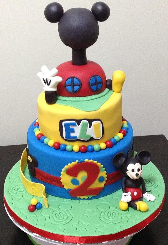 Brilliant 2Nd Birthday Mickey Mouse Cake Cake By Mariastubbs Cakesdecor Funny Birthday Cards Online Inifodamsfinfo