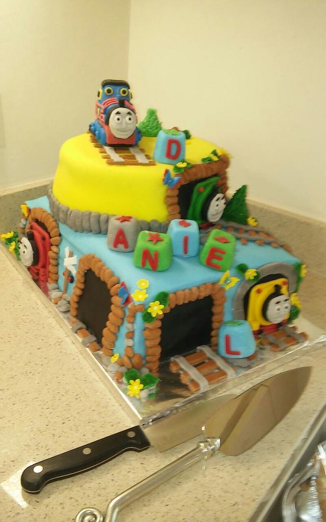 Christening Thomas cake