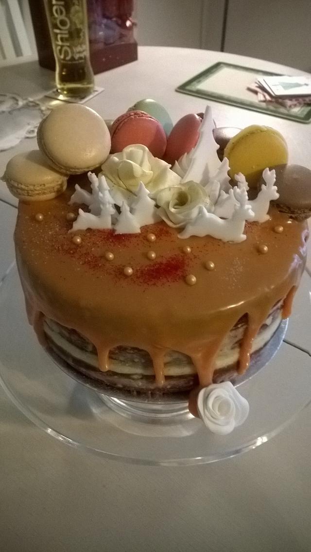 Drip cake for Christmas