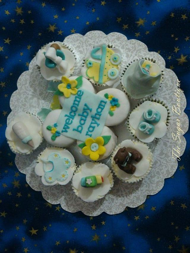 welcome baby cupcakes