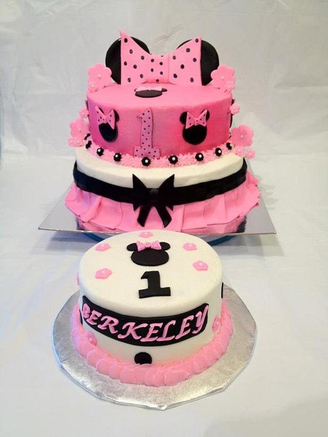Fabulous Minnie 1St Birthday Cake By Dawn Henderson Cakesdecor Funny Birthday Cards Online Inifofree Goldxyz