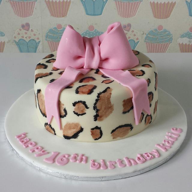Leopard print cake ♡