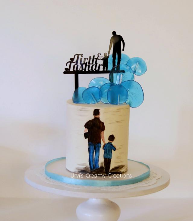 Admirable Father Son Birthday Cake By Urvi Zaveri Cakesdecor Funny Birthday Cards Online Bapapcheapnameinfo