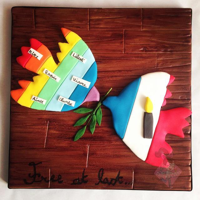Des colombes pour la paix