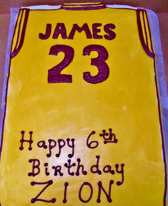 Swell Lebron James Jersey Cake Cake By Nancys Fancys Cakes Cakesdecor Funny Birthday Cards Online Necthendildamsfinfo