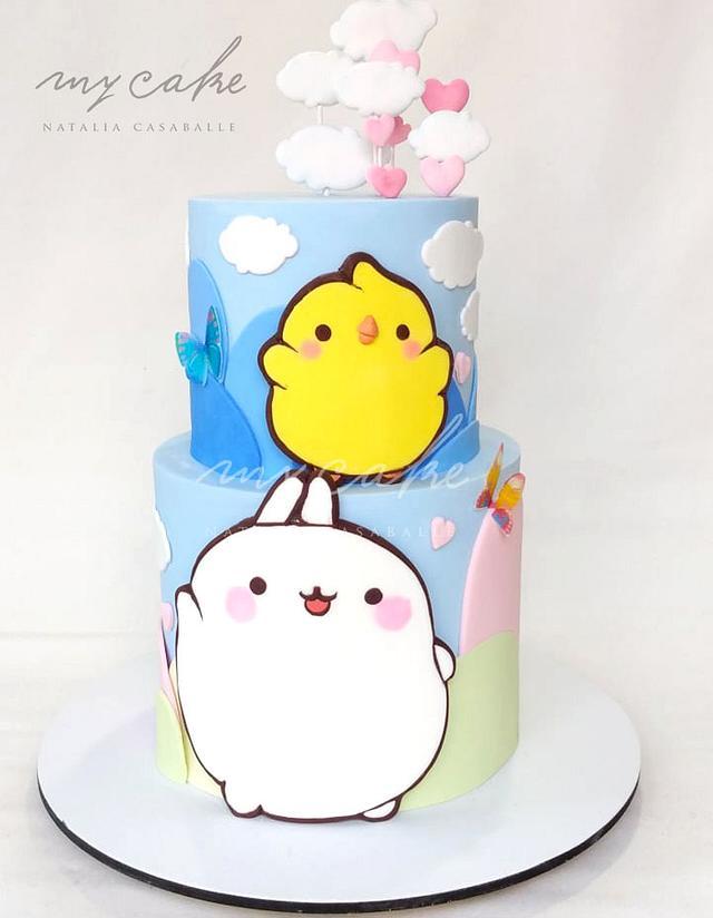 Molang and Piu Piu Cake