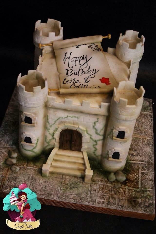 Tremendous Medieval Castle X Cake By Dusicake Cakesdecor Funny Birthday Cards Online Overcheapnameinfo