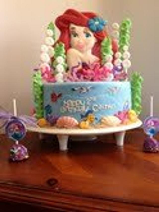 Ariel Cake and Cake Pops