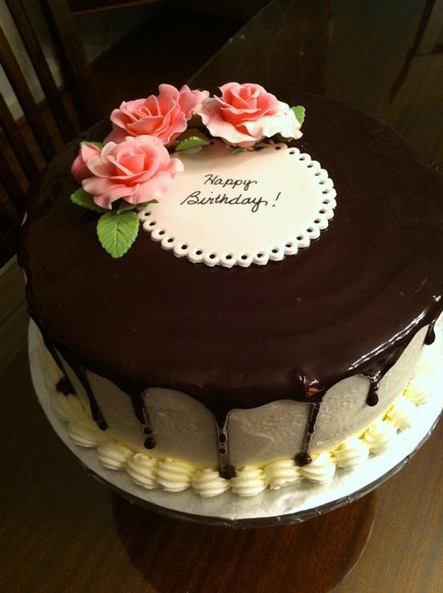 Surprising Chocolate Ganache Birthday Cake Cake By Jiffy0127 Cakesdecor Personalised Birthday Cards Vishlily Jamesorg
